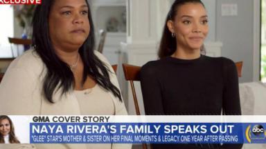 Mãe e irmã falando no Good Morning America