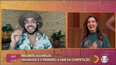 Mahmoud, primeiro eliminado do No Limite, é entrevista por Fátima Bernardes