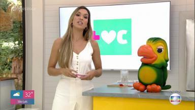 Thalita Morete apresentando o Mais Você