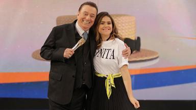 Maisa e Raul Gil