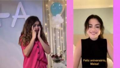Maisa fez 18 anos e ganhou vídeo de Selena Gomez