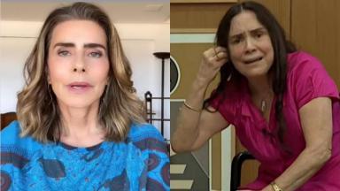 Maitê Proença negou que tenha mandado recado a Regina Duarte em entrevista a jornal