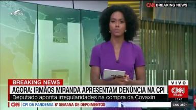 Maju Coutinho na tela da CNN Brasil