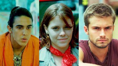 André Marques, Carolina Dieckmann e Cláudio Heinrich integraram o elenco da primeira temporada de Malhação
