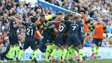 Manchester City comemora gol