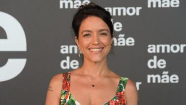 Manuela Dias no lançamento de Amor de Mãe