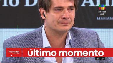 Guillermo Andino chorando ao vivo