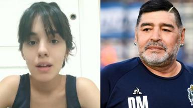 Maradona e sua suposta filha em foto montagem