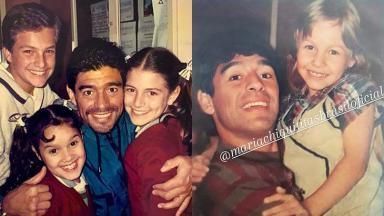Diego Maradona conheceu elenco de Chiquititas em 1997