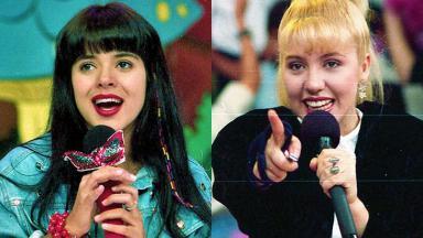 Mara Maravilha e Mariane no SBT, no início dos anos 90