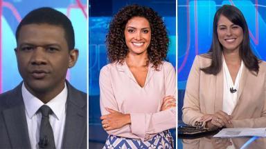 Jéssica Senra (TV Bahia), Aline Aguiar ( Globo Minas) e Márcio Bomfim (Globo Nordeste)
