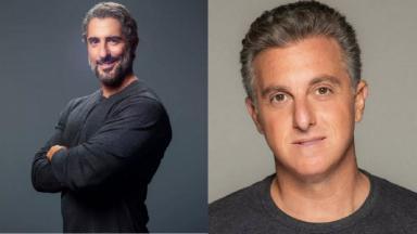 Luciano Huck (à esquerda) e Luciano Huck (à direita) em foto montagem