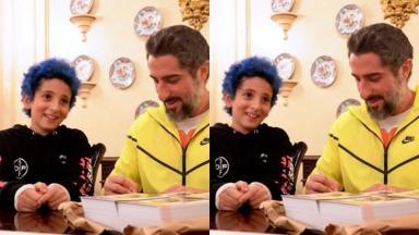 Marcos Mion mostra reação inusitada do filho ao fazer descoberta