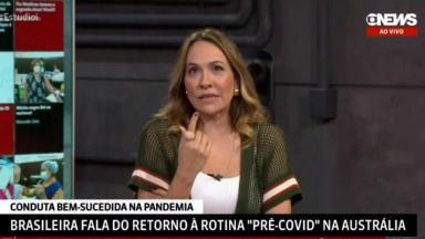 Maria Beltrão na dúvida, durante o Estúdio i