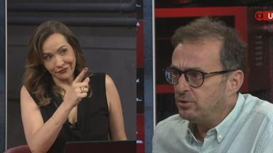 Maria Beltrão repreendeu Octavio Guedes no Estúdio I, da GloboNews