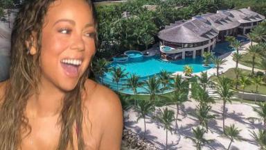 Mariah Carey em casa milionária