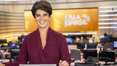 Mariana Godoy na bancada do Fala Brasil