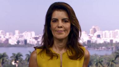 Mariana Gross se emociona no RJ1
