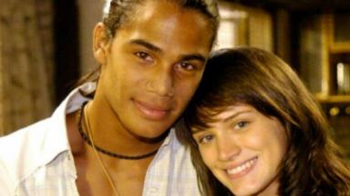 Micael Borges e Bianca Bin posam nos bastidores de Malhação 2009