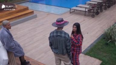 Marina Ferrari conversando com Gui Araújo e Dynho Alves