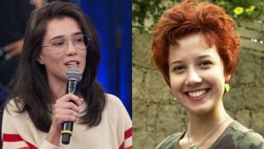 À esquerda, Marjorie Estiano em entrevista ao Altas Horas; à direita, atriz na pele da cantora Natasha em Malhação (2004)