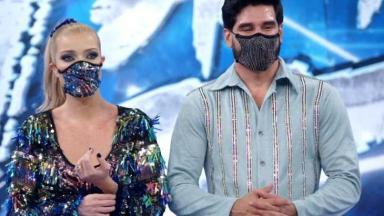 Luiza Possi e professor na Dança dos Famosos