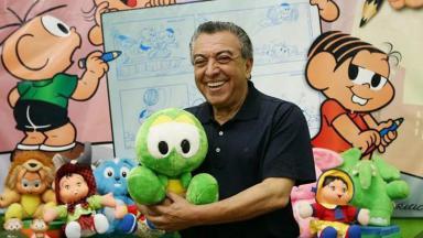 O cartunista Maurício de Sousa