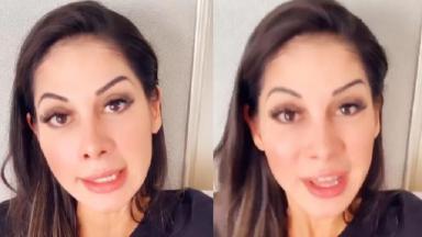 Mayra Cardi durante stories no Instagram