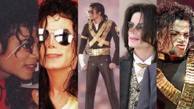Michael Jackson em diferentes momentos