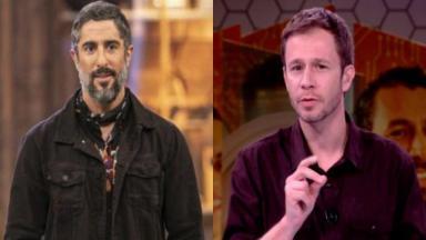 Marcos Mion e Tiago Leifert