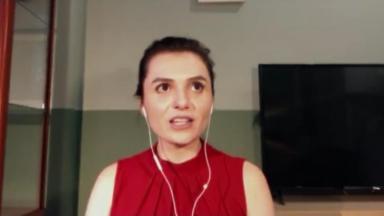 Monica Iozzi no Conversa com Bial