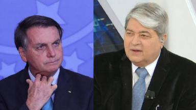 Bolsonaro (à esquerda) e Datena (à direita) em foto montagem