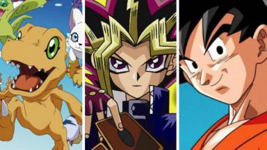Montagem com Digimon, Yu-Gi-Oh e Dragon Ball