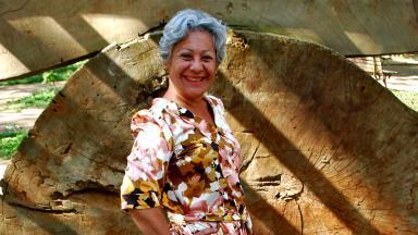 Therry Klotzel posada sorridente