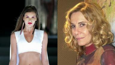 Camila Queiroz (à esquerda) e Renata Sorrah (à direita) em foto montagem