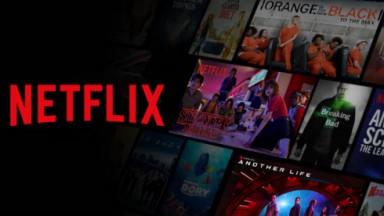 logotipo da Netflix e filmes do seu catálogo