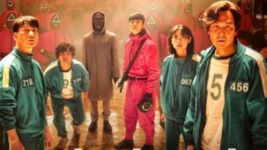 Protagonistas de Round 6 durante foto de divulgação para a Netflix