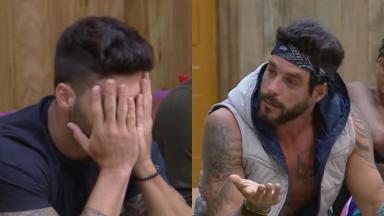 Netto Rodrigues e Diego Grossi bateram boca no reality show A Fazenda 2019