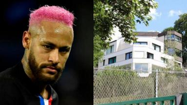 Neymar e sua mansão na França