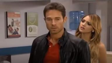 Cena de Gusmão e Nikki em hospital em Amores Verdadeiros