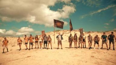 Participantes do No Limite na Praia Brava