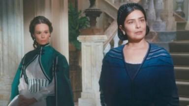 Mariana Ximenes e Letícia Sabatella em cena da novela Nos Tempos do Imperador, em exibição na Globo
