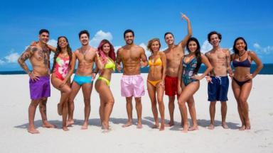 Os dez participantes da sexta temporada do programa posam para foto