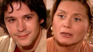 Murilo Benício e Vera Fischer em cena da novela O Clone, em reprise no Vale a Pena Ver de Novo, na Globo