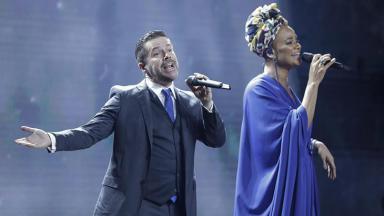 Pedro Mariano e Luciana Mello