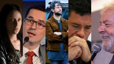 Montagem divide a tela com Carol Abras, Delton Dallagnol, Selton Mello, Sérgio Morto e Lula