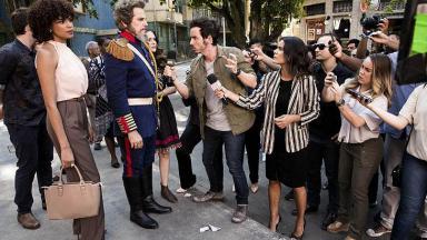 Dom Sabino e jornalistas