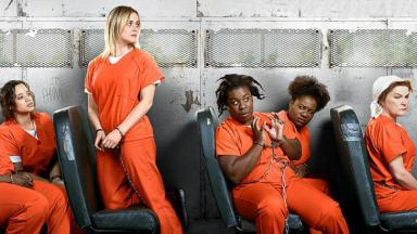 "Elenco de ""Orange is the new black"" posa para foto"