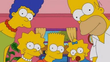 Os Simpsons na sala de estar