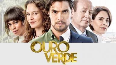 """Capa de """"Ouro Verde"""" com o elenco central"""